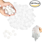 Mini Disposable Compressed Towel Portable Hand Wipe for Outdoor Camping Travel (100pcs) by Davidsons Collection