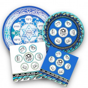 Passover Seder Disposable Dinnerware Set -- Passover Paper Plates and Napkins