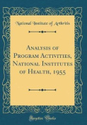 Analysis of Program Activities, National Institutes of Health, 1955