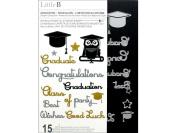 Little B Cutting Dies Graduation Words 15pc