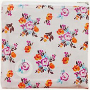 Freckled Fawn Printed Clear Plastic Zippered Pouch 20cm x 20cm -Painted Floral