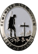 'Lone Soldier' Remembrance Day Red Poppy Pin Badge Brooch