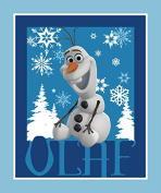Frozen-Olaf Panel 43/44 Wide 100% Cotton D/R-Olaf Panel