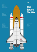 The Space Shuttle Print - 700mm X 500mm