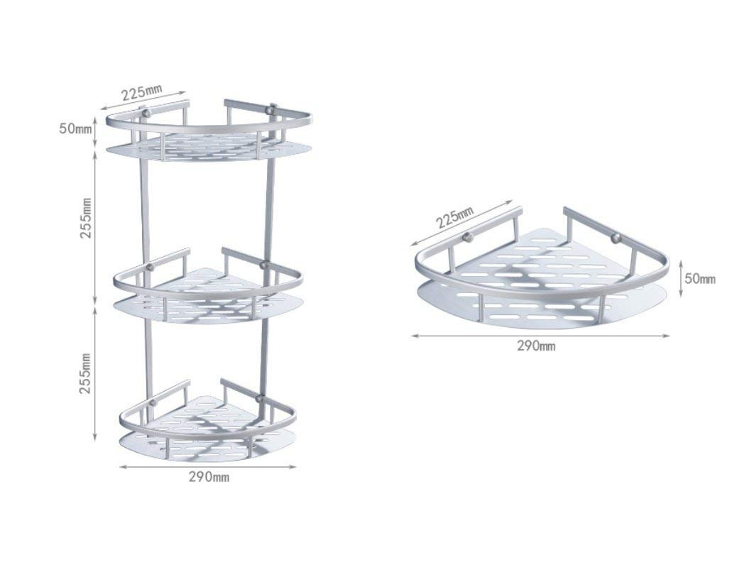 2 Tier Rust Proof Aluminum Alloy Bathroom Shower Caddy With