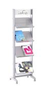 Paperflow EasyDisplays Single-Sided Literature Display, Metal Shelves, Medium, 50cm x 170cm x 38cm