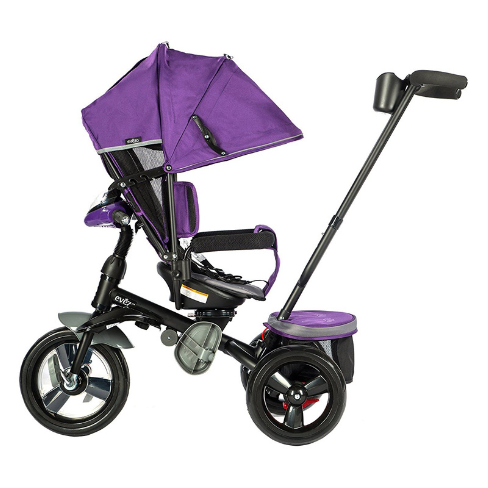 8f9416eafff Evezo 302A 4-in-1 Parent Push Tricycle for Kids, Reclining Trike ...