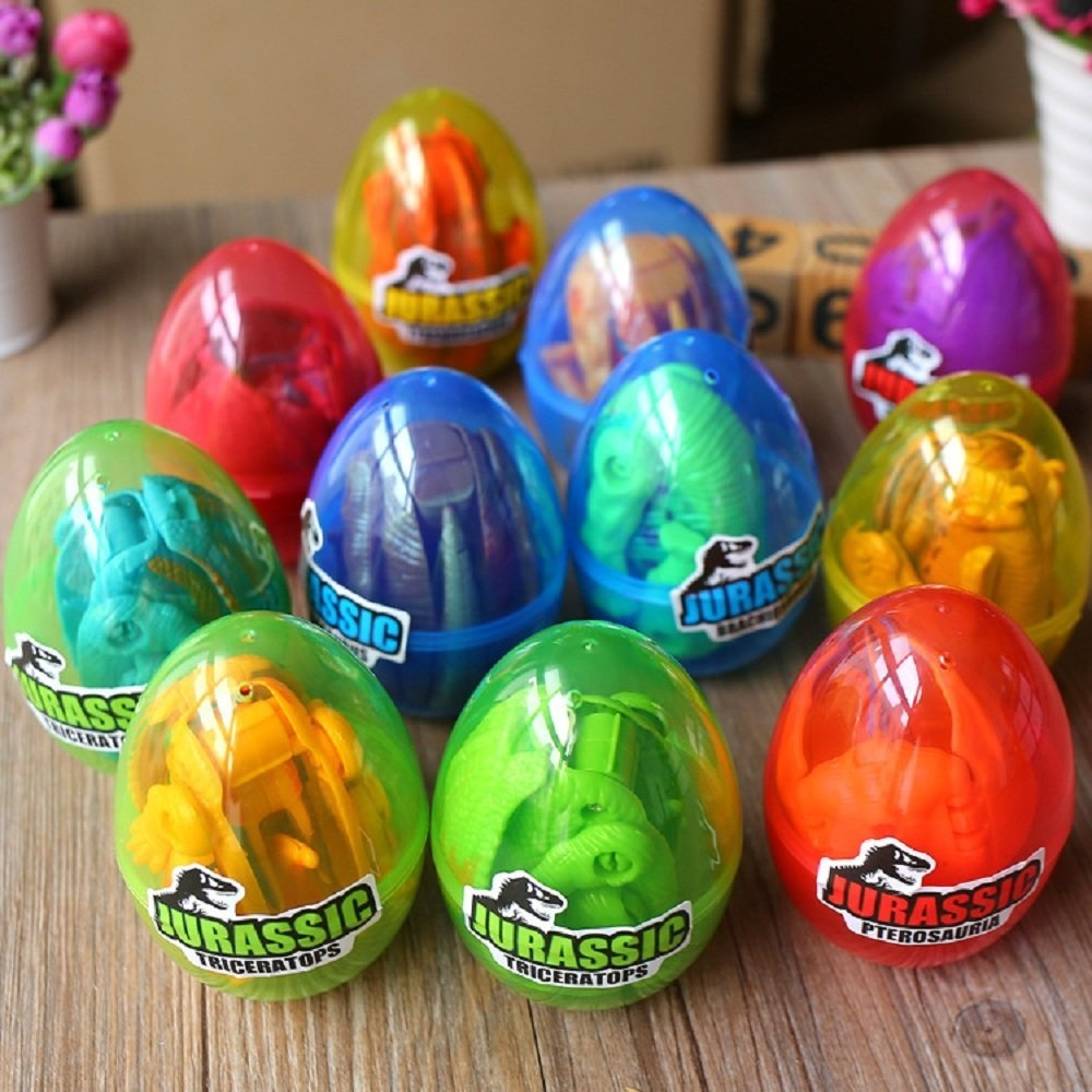 Maikerry dinosaur egg toy 12pcs dinosaur eggs and kids dinosaur for easter baskets party favours cake toppers and more t rexpterosaursbrachiosaurustriceratops by maikerry shop online for toys in new zealand negle Images