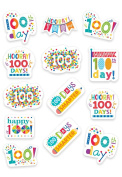 Creative Teaching Press Happy 100th Day Stickers