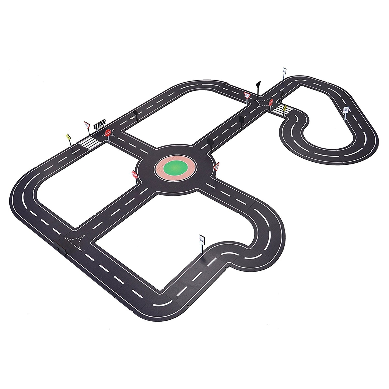 Platapilla Usa PPAFL065 Tuzzles Super Roadway Set Laser Cut Puzzle