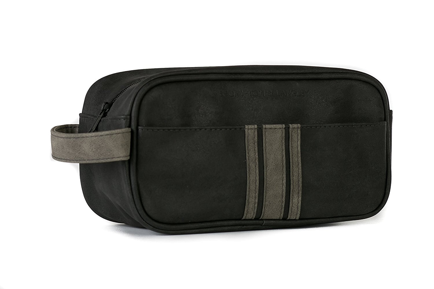 97564f39799f Danielle Creations Brompton and Langley Black and Charcoal, Small Wash bag