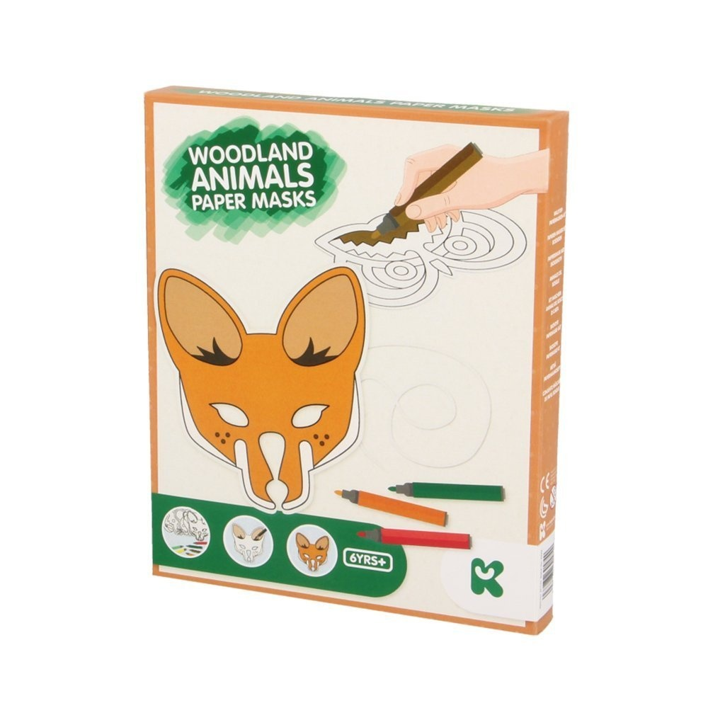 Keycraft AC144 Woodland Animals Paper Mask Craft Kit By