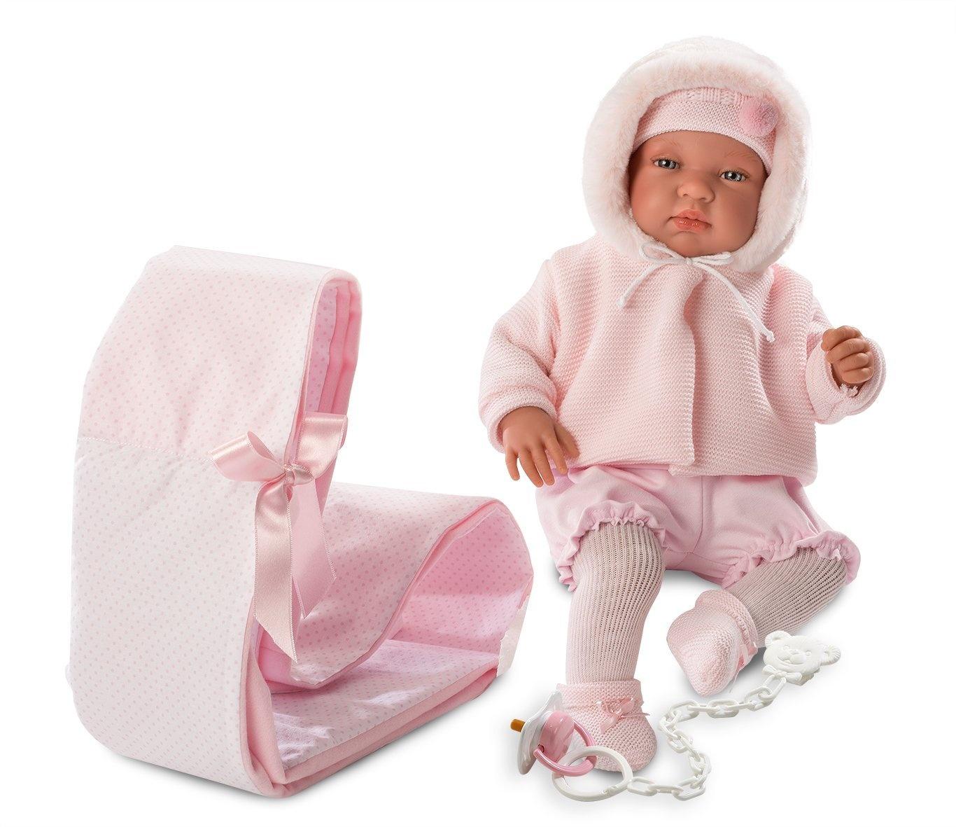 73874ef26783 Muñecos bebé Llorens 84313 Newborn Tino 43 cm Doll Muñecas y accesorios