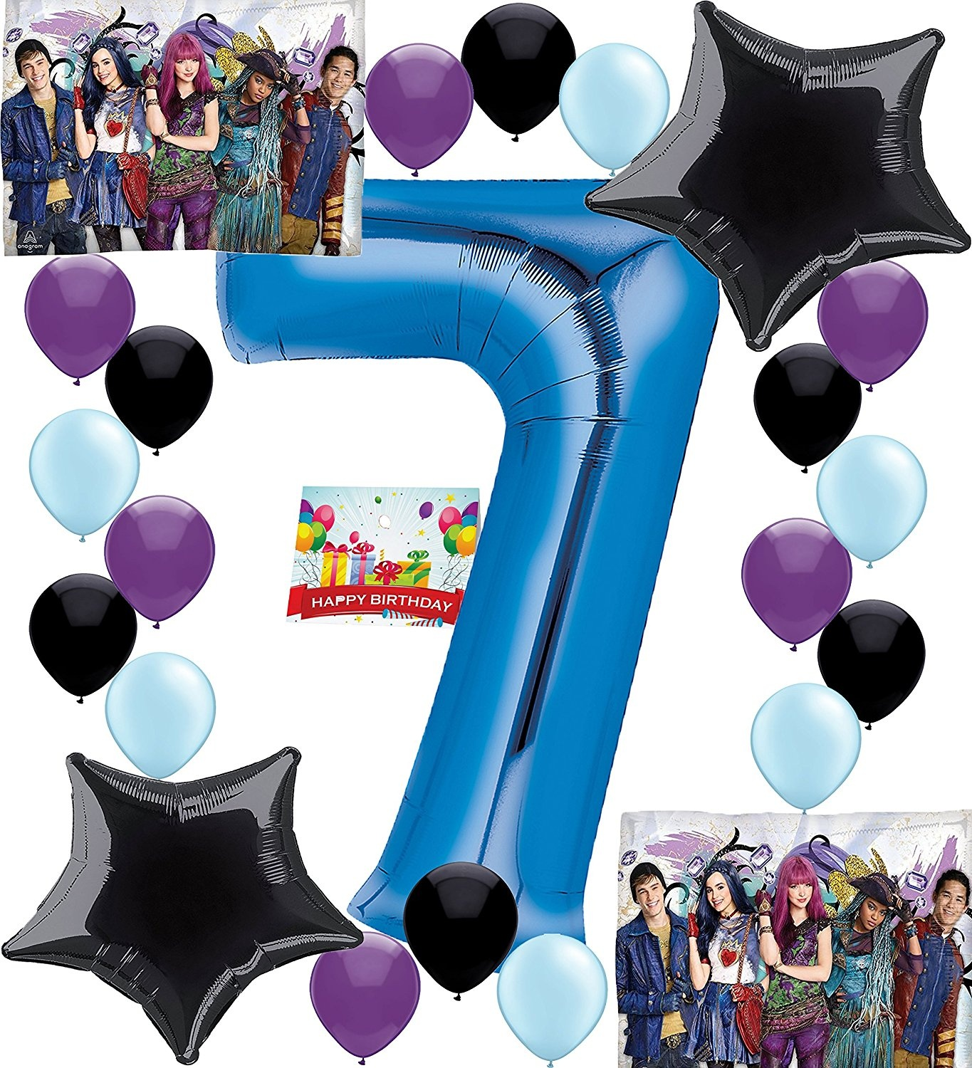 Descendants 2 Party Supplies Birthday Decorations Number Balloon