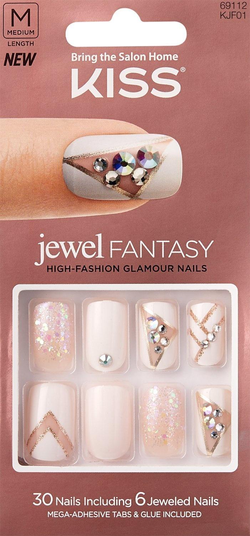 Kiss Jewel Fantasy KJF01 (EMPRESS) w/Adhesive Tabs & Glue