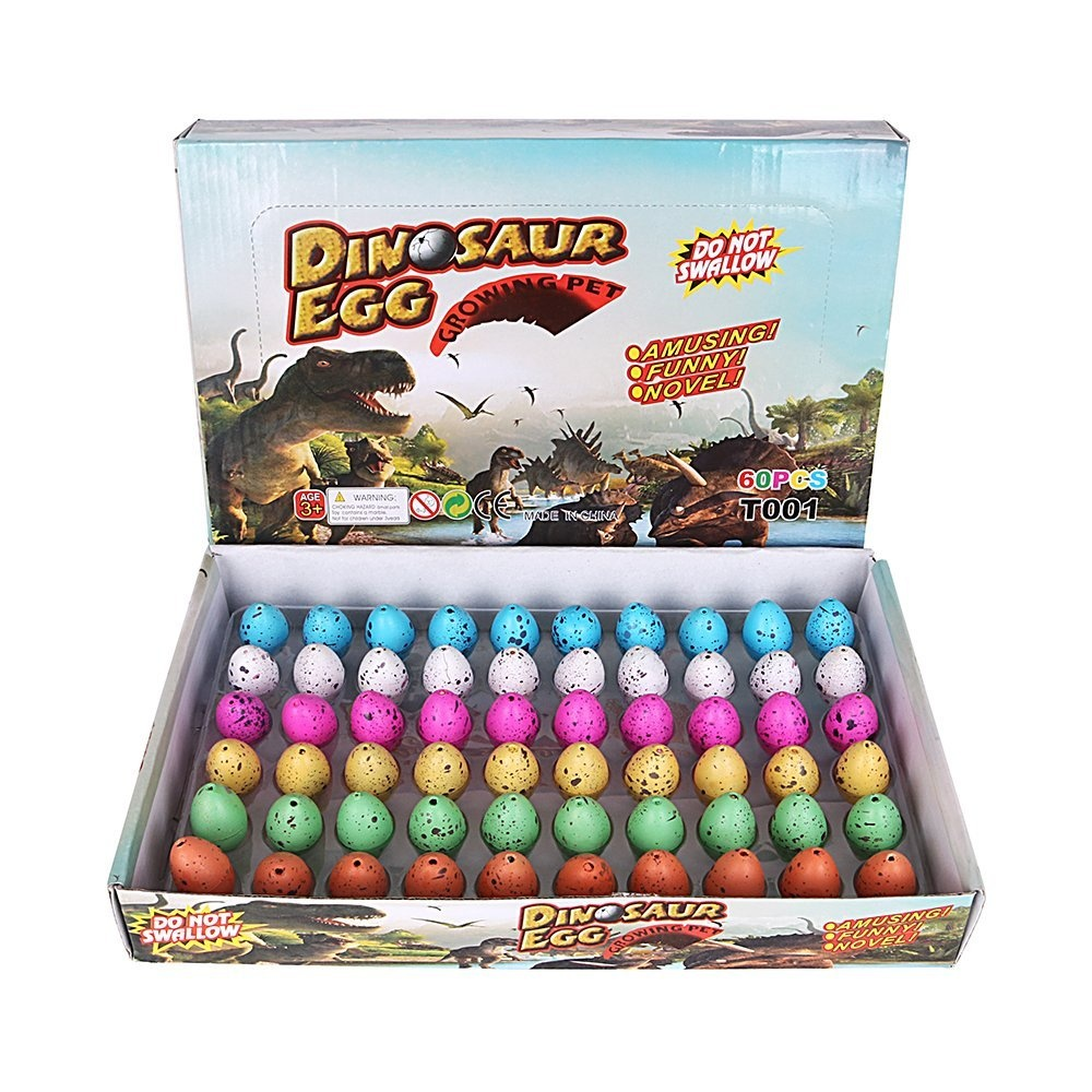 Dingze Dinosaur Eggs Hatching Toy 60pcs Hatch-Grow Easter