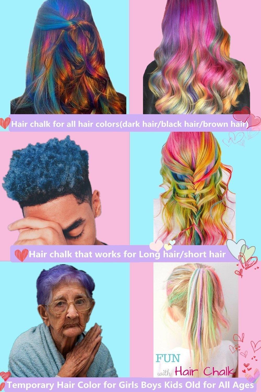 Hair Chalk For Kids Girls Temporary Hair Chalks Colour Set Prime
