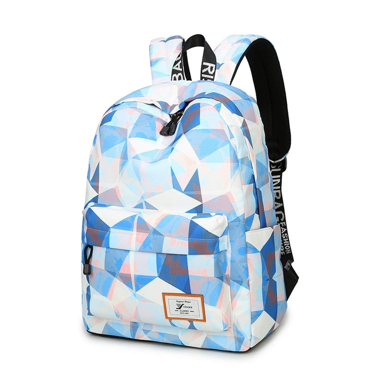 e982b8b9784c Joymoze Fashion Leisure Backpack for Girls Teenage School Backpack Women  Print Backpack Purse Blue and White
