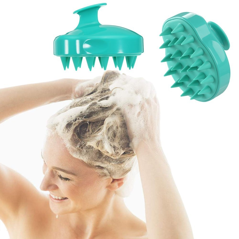 b86d44156cb5 Hair Scalp Massager Shampoo Brush, Scalp Care Brush,Body Washing Silicone  Soft Manual Comb for Women, Men & Kids and Pet Grooming Shedding Massage ...