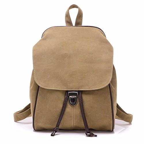 3815677bd4d9 MSZYZ Women's bags, canvas bags, shoulders, mini backpacks, cute little  fresh shoulder bags,Khaki