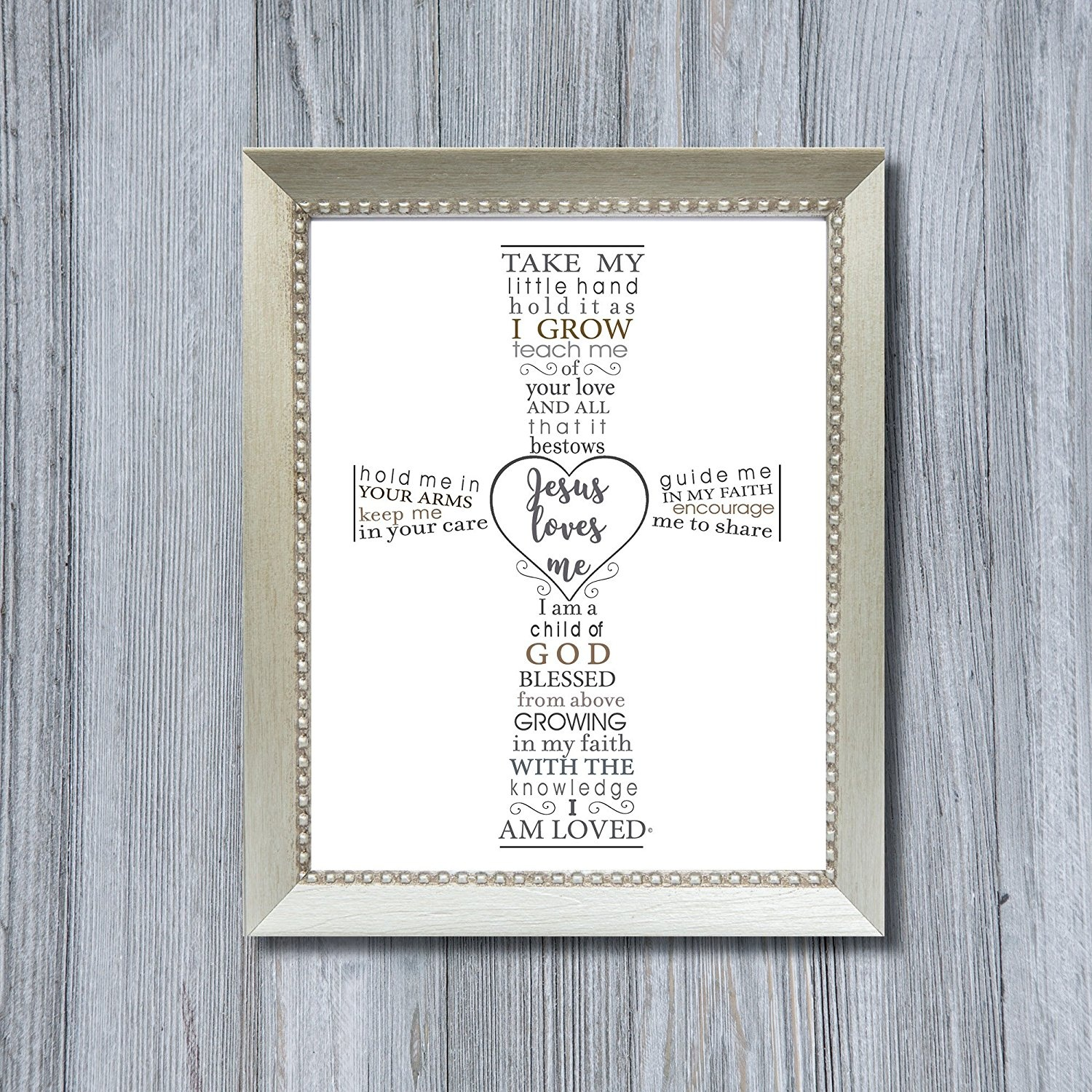 First Grandchild Picture Frame- White Double Hinged Tabletop Photo ...