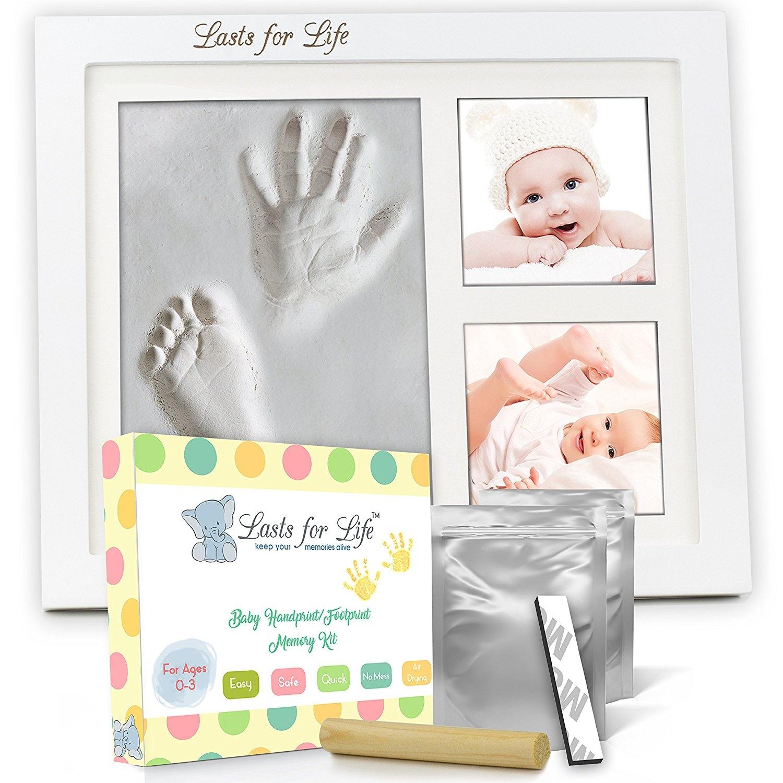 kemilove Baby Handprint Kit |No Mold| Baby Picture Frame, Baby ...