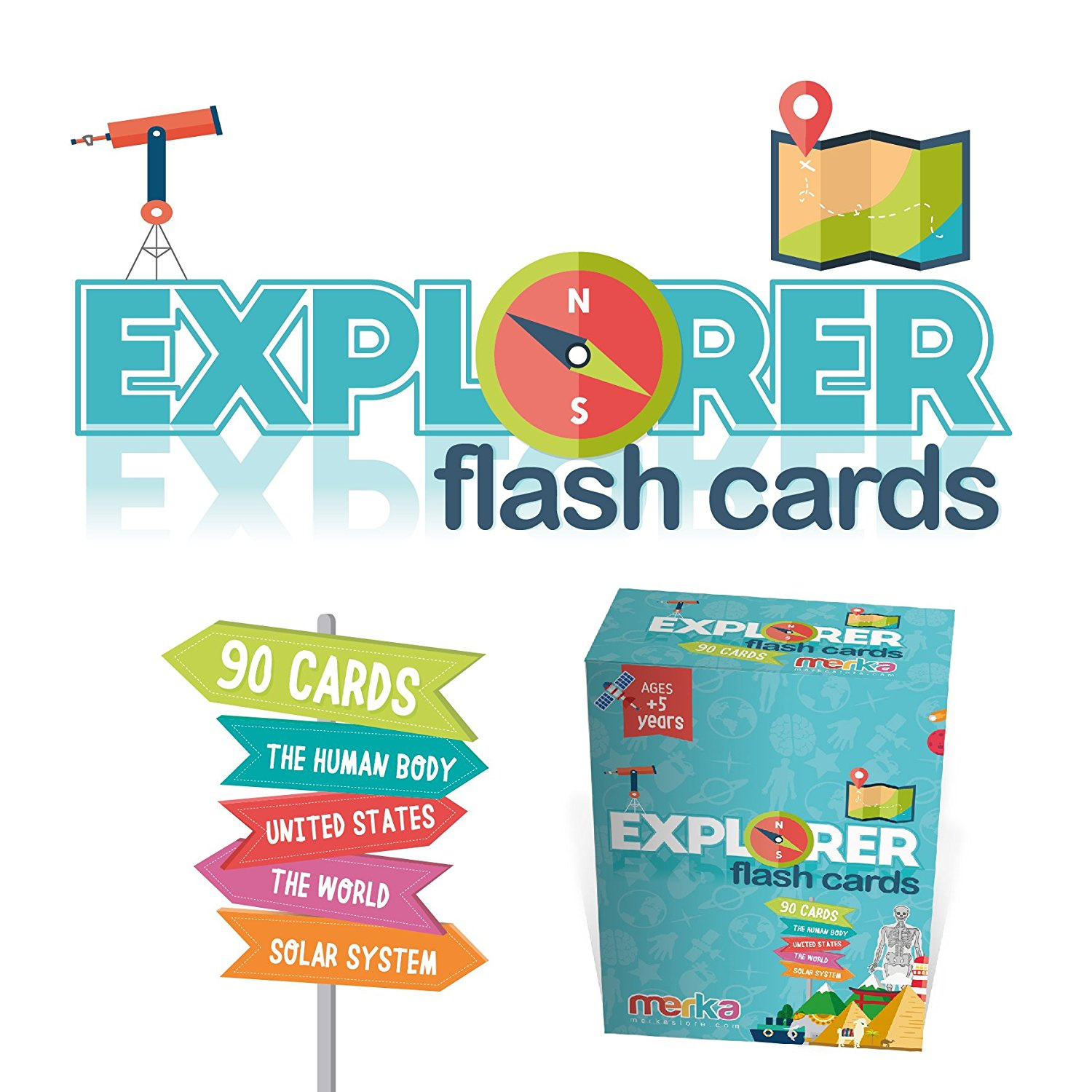 Homyl 36 Flash Cards X 4 PACKS Math Flash Cards Subtraction ...