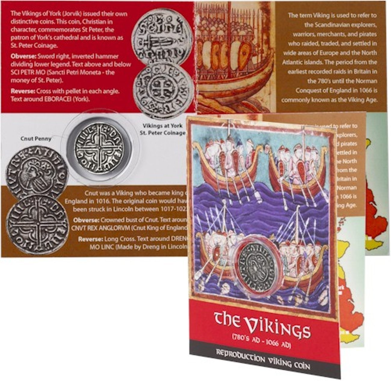 Westair Viking Replica Coin Pack - Vikings Coinage - Cnut Penny