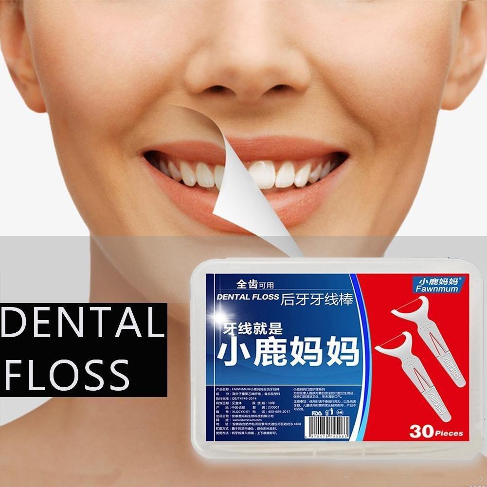 2x25pcs Dental Floss Stick Flosser Toothpicks Charmi