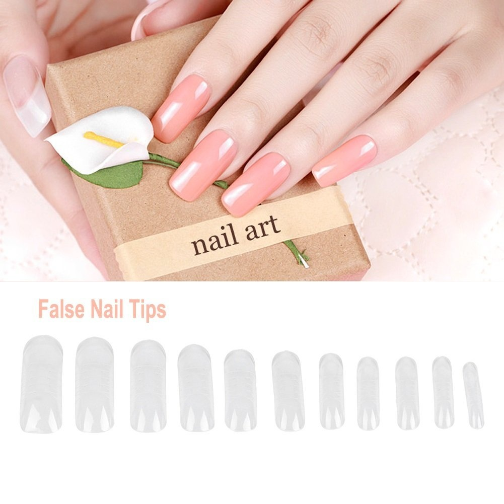 Niome 100 Pcs Dual Nail Art System Form UV Gel Acrylic False Tips ...