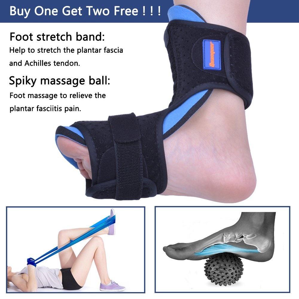 f99b10d470de2 Plantar Fasciitis Night Splint Foot Drop Orthotic Brace for Sleep Support-  Adjustable Dorsal Night Splint for Effective Relief from Plantar Fasciitis  ...