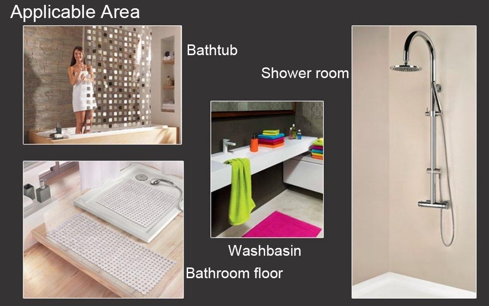 Non-Slip Bathtub Stickers kids-10 Piece Creative Safety Bathroom Decor Stickers, Bathroom Accessories(10 Pack ...