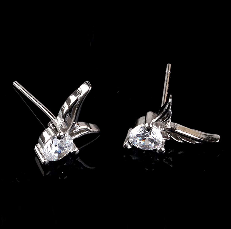 Charming Womens Sterling Silver Ear Hoop Earrings Ear Stud