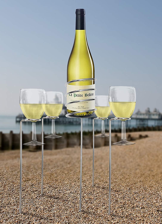 Picnic Wine Glass Holder Nz Glass Decorating Ideas