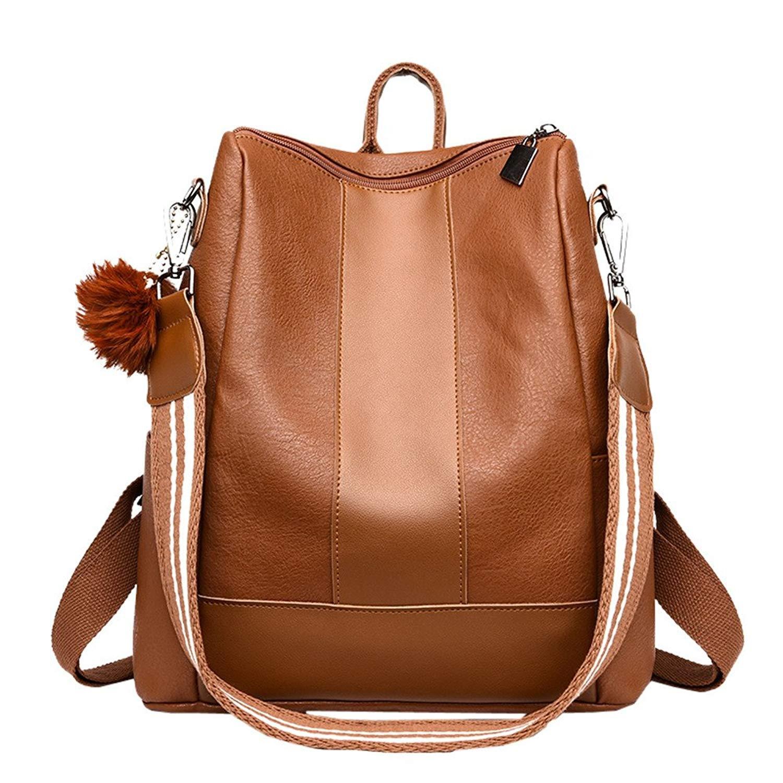 0c8ae60e0ee8 Rawdah Girl Hairball Leather School Bag Hit Colour Backpack Satchel ...