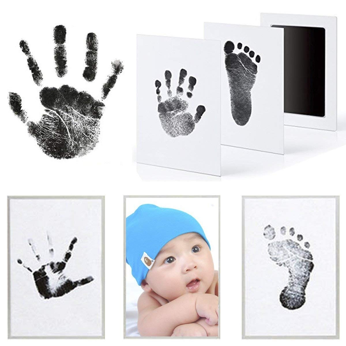 Baby Photo Frame with Handprint & Footprint Kit, Best Gifts for ...