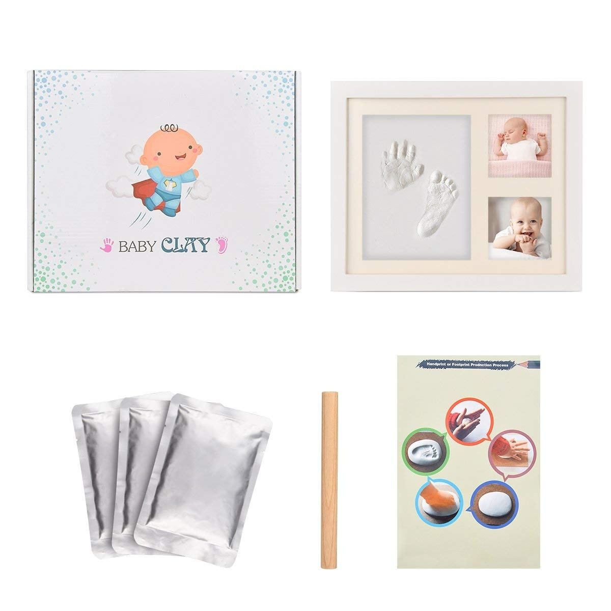 Joyeee Baby Handprint /& Footprint Photo Frame Kit, Unique Keepsakes ...