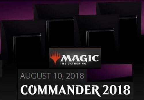 MTG Magic The Gathering 2018 Commander Set - All 4 Decks