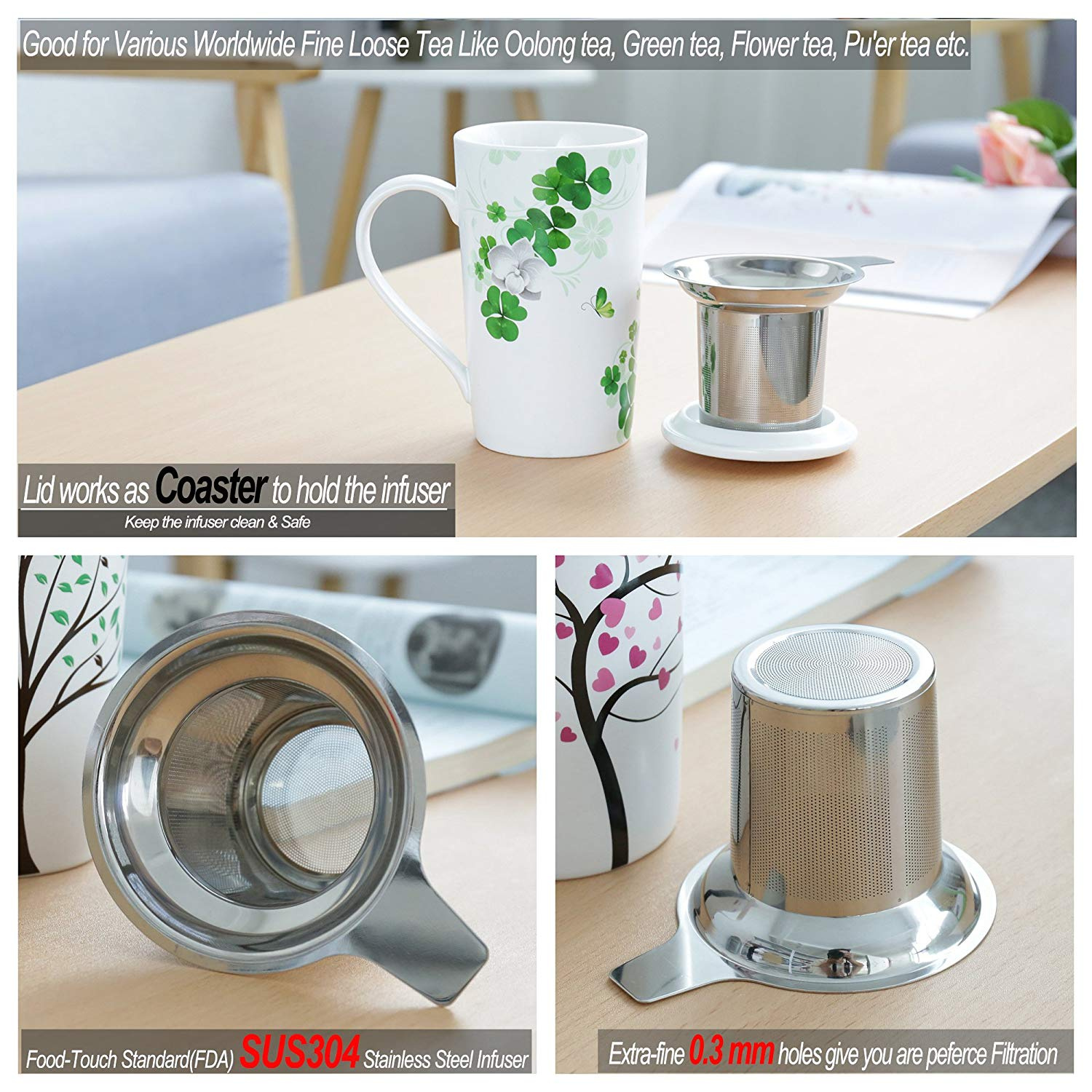 Tea Filter Stainless Steel Cone