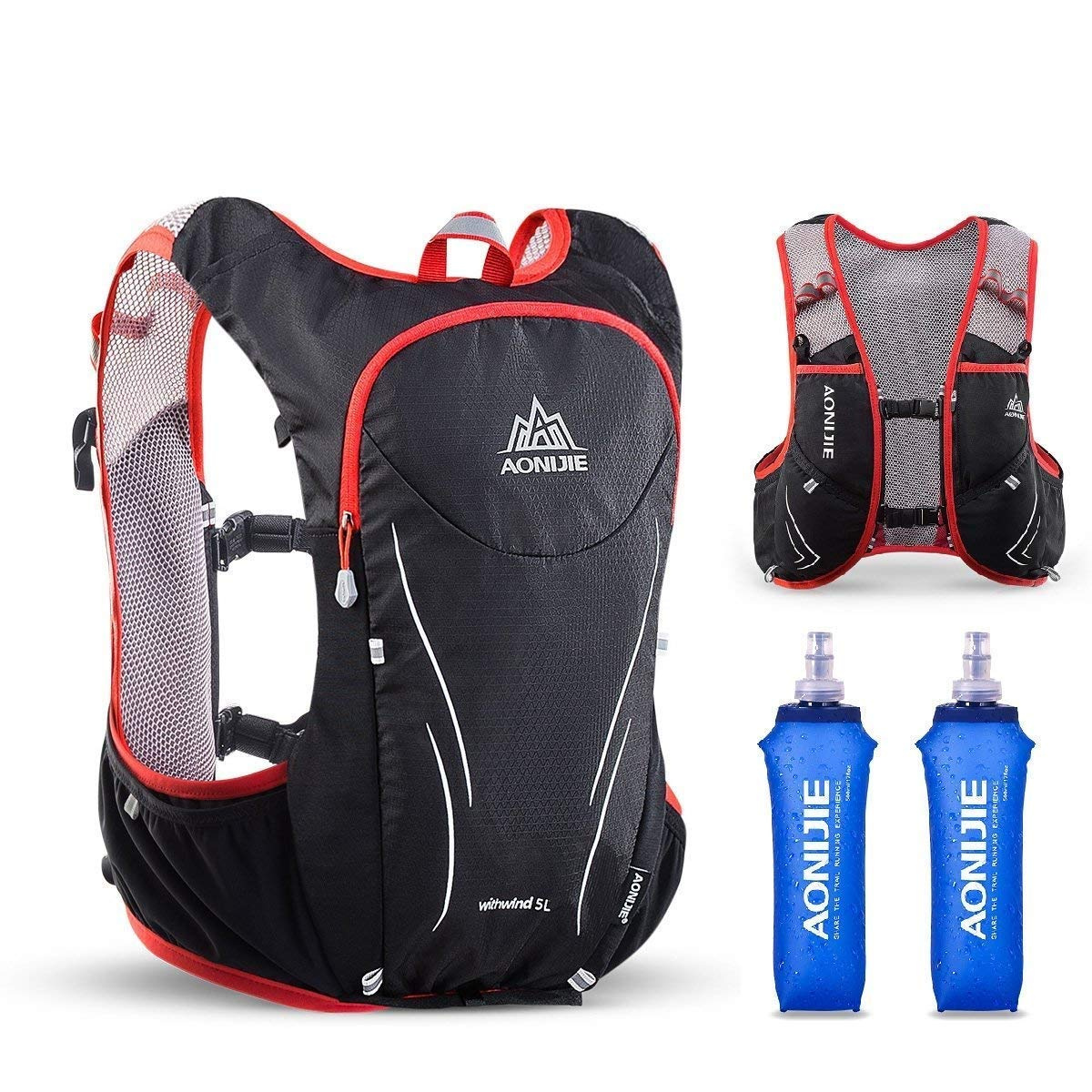 Azarxis Hydration Vests for Running Women Men Race Running Vest Hydration Trail Running Water Vest Marathon Backpack Ultra Pack 5L for Cycling Runner