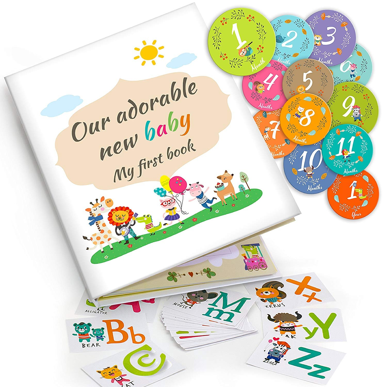 738e05cb9868f Unique Baby Memory Book – Capture Your Baby s Milestones