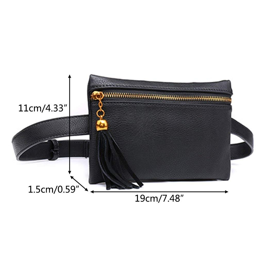 3028e8feb732 Kimruida Waist Pouch Women Fashion Tassel Belt Bags Trendy Fanny Pack  Travel Wallet Case