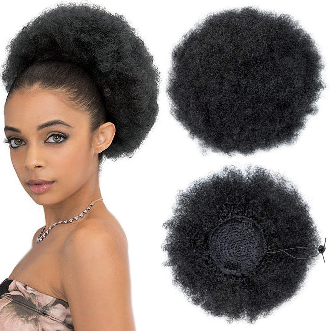 Large Synthetic Curly Ponytail Afro Kinky Curly Hair Extension