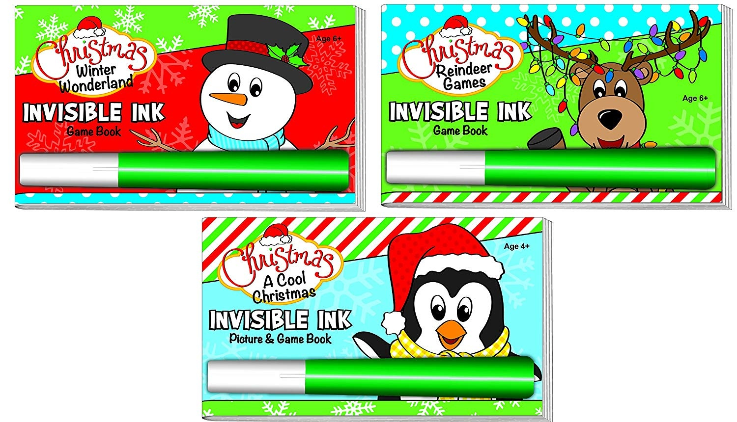 Invisible Ink: Yes /& Know Game Books Bingo, Tic-Tac-Toe, Hangman ...