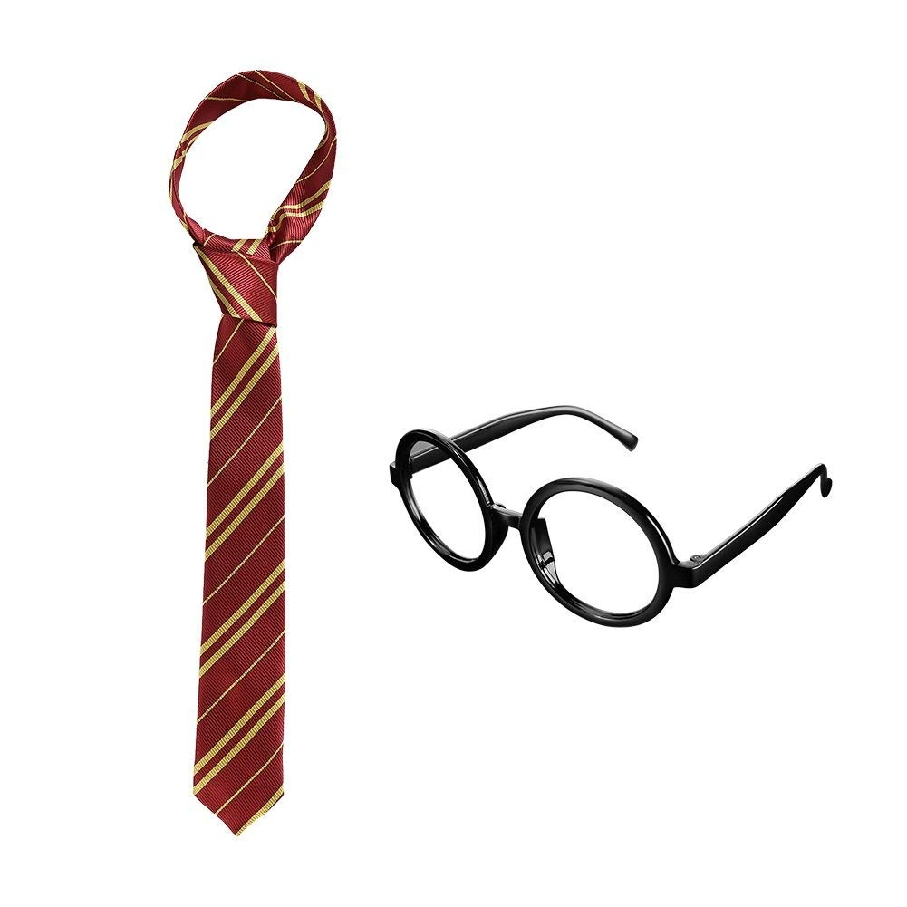 23f832bec8 Ultpeak Harry Potter Tie - Gryffindor Necktie w  Wizard Glasses for Kids  Teens