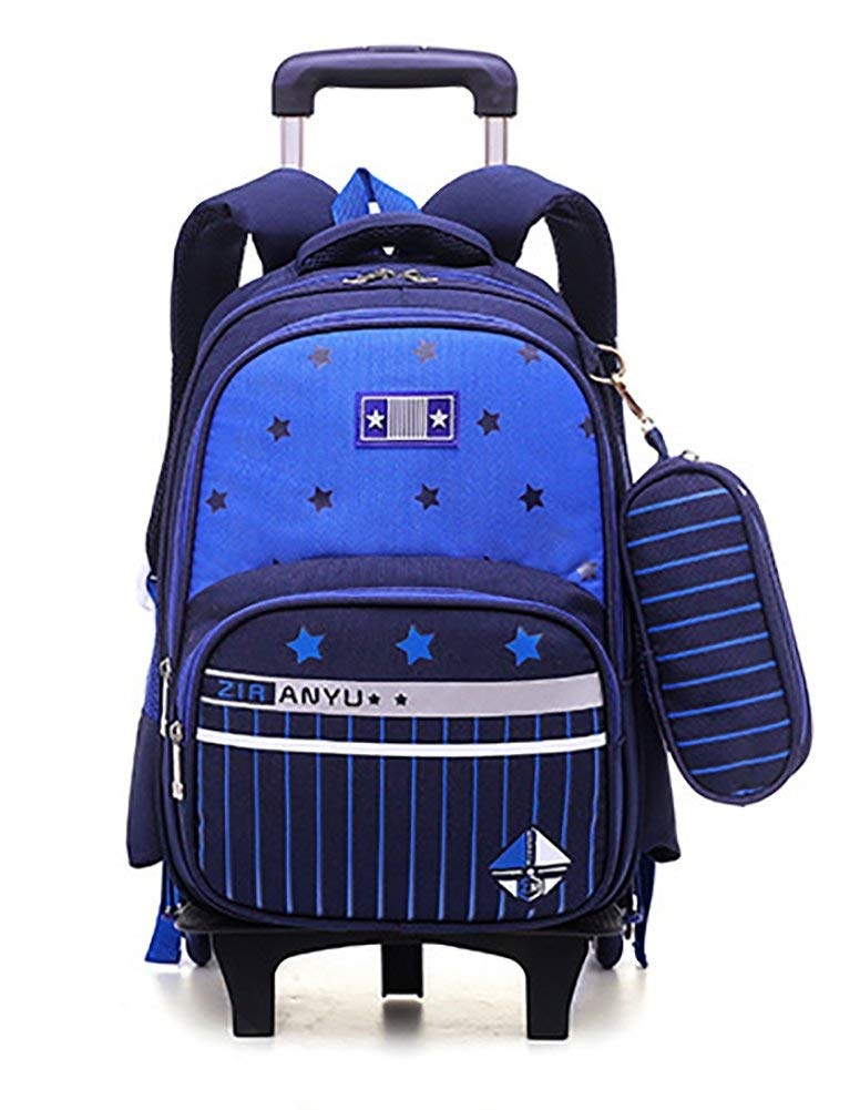 ca0e89fc95 Meetbelify Wheeled Backpack School Kids Rolling Backpack with 6 Wheels with Pencil  Case
