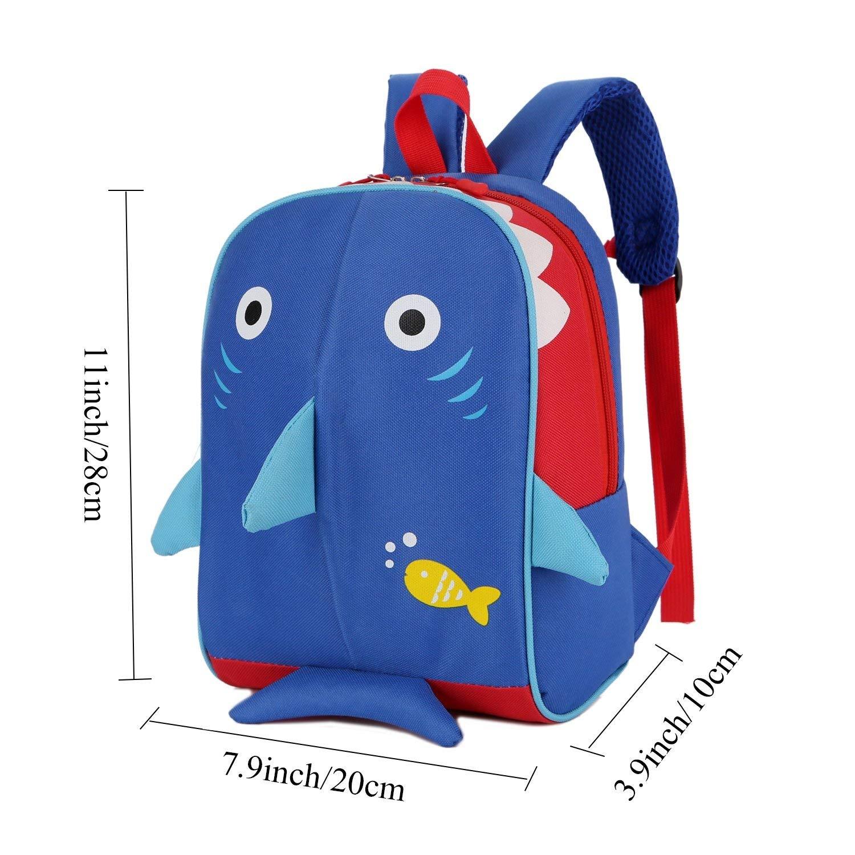 Cartoon Shark School Bags for Kids Baby Girls School Backpack Children Schoolbag