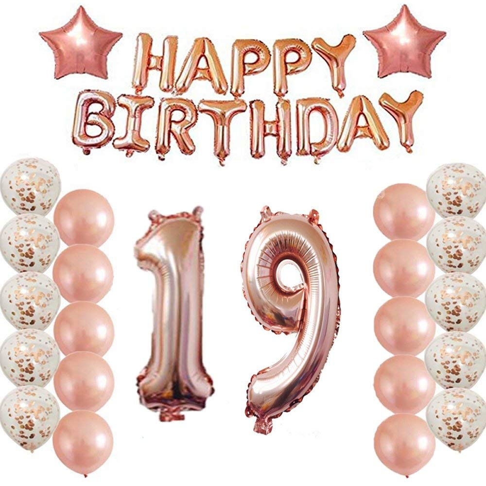 25th Birthday Decorations Party Supplies25th Balloons Rose GoldNumber 25 Mylar Balloon