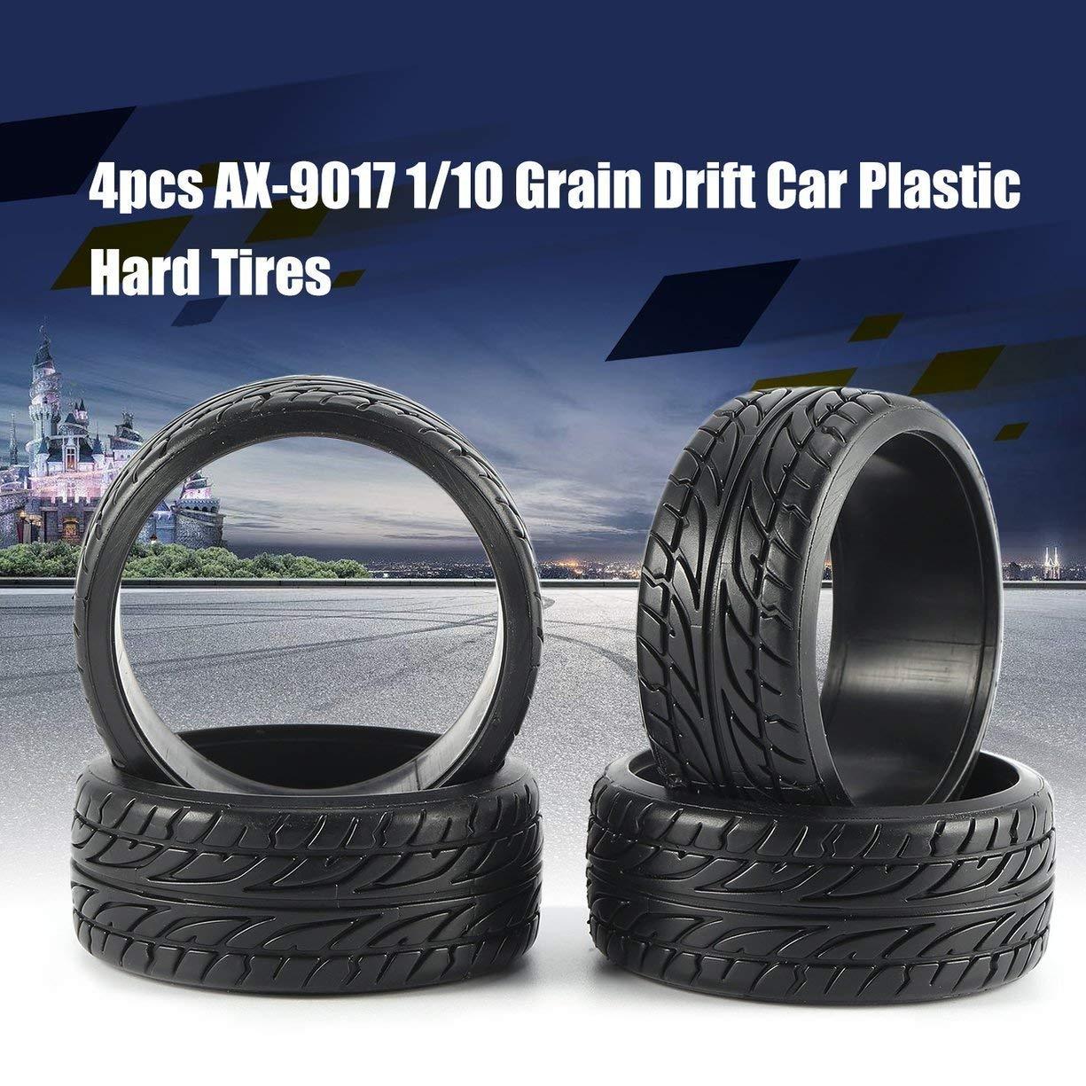 Shaluoman Rc Car Drift Tires Tyre And Wheels 10 Spoke Black For Hsp Hpi