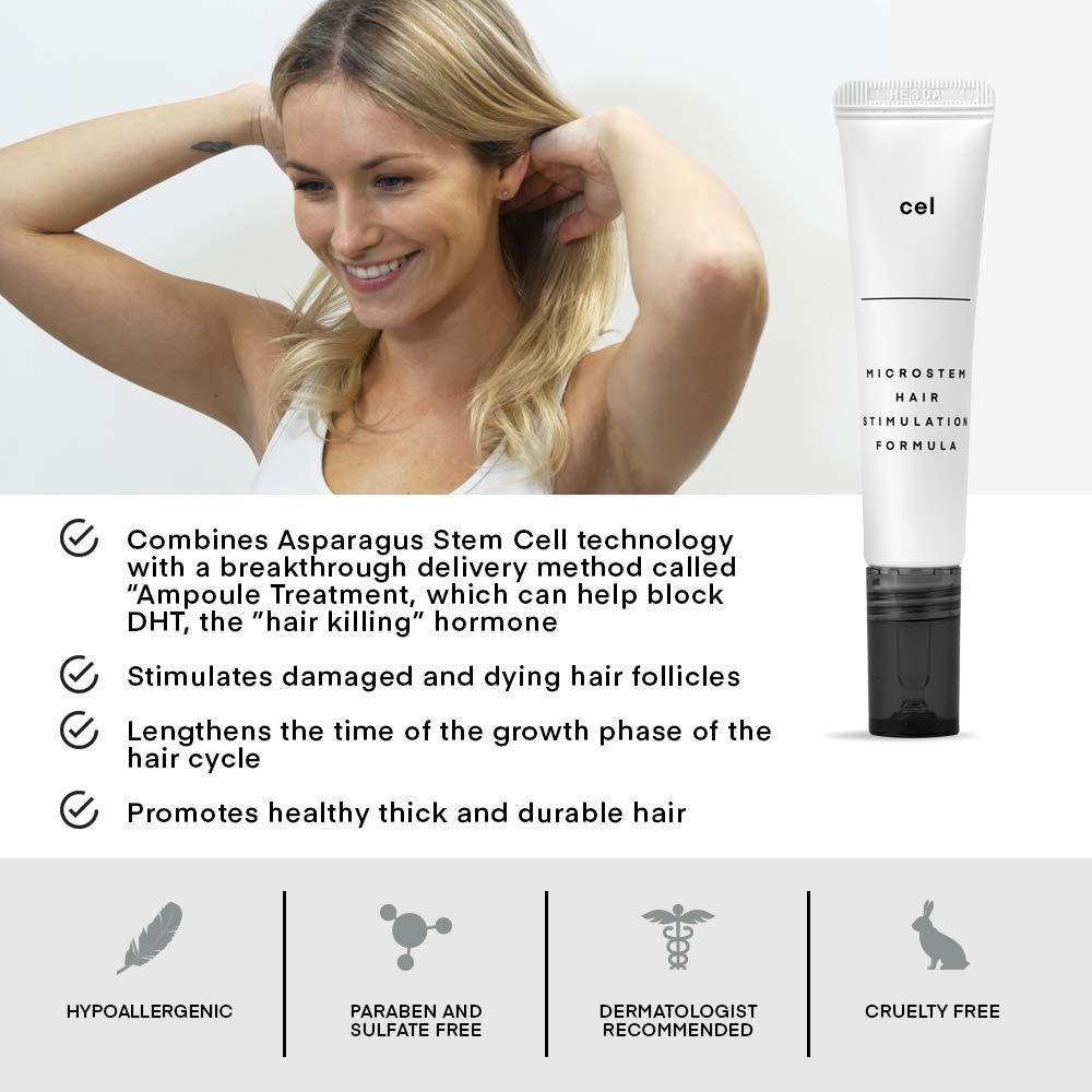 CEL MD Hair Stimulation Formula  Asparagus Stem Cell Hair Growth & DHT  Blocker Formula With Biotin & Castor Oil